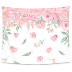"""EZprint.com - Blush Rose Wall Tapestry, 51""""x60"""" - We are in LOVE with this blush rose tapestry! These beautiful wall tapestries are the perfect size for over the crib OR to fill a blank space in the room. These gorgeous rose waterfall flowers make this adorable over the crib decor for any baby girl! Match it with our Blush Rose crib bedding collection for a perfect coordinating look!"""