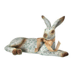 Garden Laying Bunny With Bow, 16""
