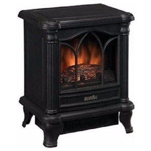 freestanding compact electric fireplace heater