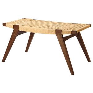 Pi-Squared Oak Footstool, Smoked and Natural