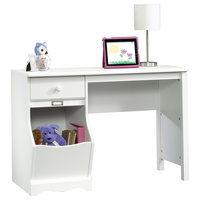Sauder Pogo Desk in Soft White Finish