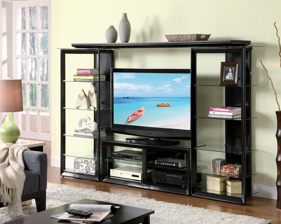 Black Entertainment Center Wall Unit modern wall units and tv stands