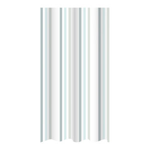 Duck Egg Brighton Rock Striped Shower Curtain