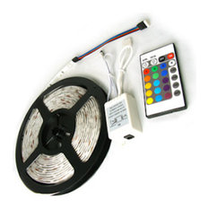 Aurora LED Color Changing Chasing RGB Bright Strip Light 16' Reel Kit