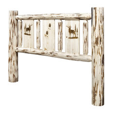 Montana Log Collection Wood King Headboard MWKHBVLZELK