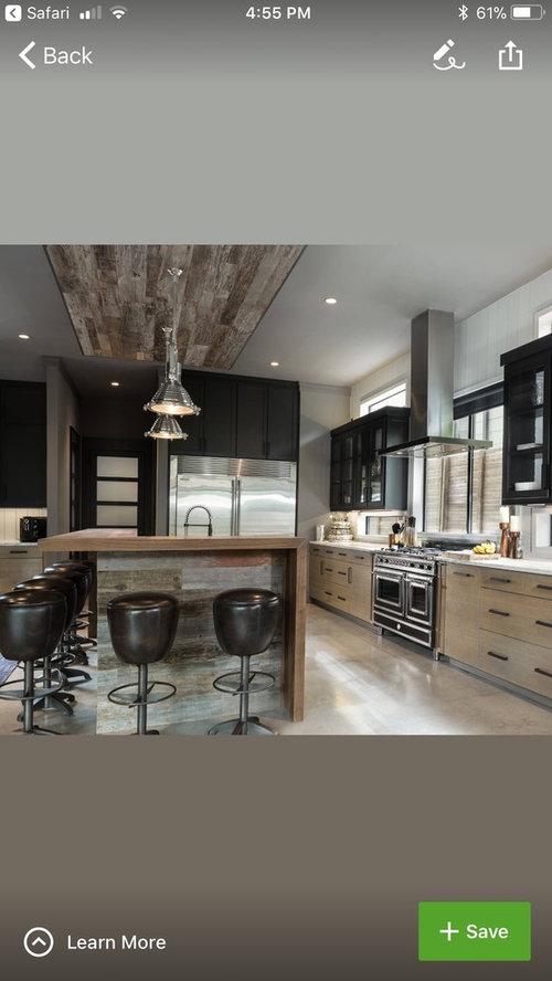 Garage Industrial Bar Kitchen Island With Breakfast Bar