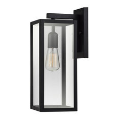 """Globe Electric 44176 Hurley 1 Light 16"""" Tall Outdoor Wall Sconce - Matte Black"""