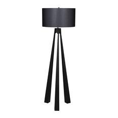 Noir Lore Floor Lamp With Shade LAMP737MTBSH