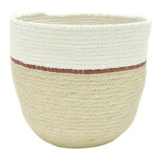 Duet Burgundy Decorative Basket, Large