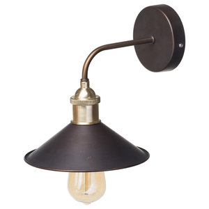 Bronze 1 Light Industrial Style Diner Wall Light