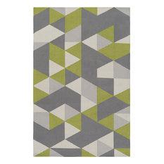 Artistic Weavers - Artistic Weavers Joan Fulton 3'x5' Lime, Gray, Light Gray Rug - Area Rugs