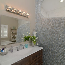 Flawless Mix of Glass and Porcelain Tiles