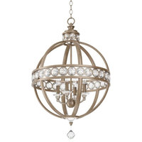"""Miseno MLPL5204 21"""" Wide 4 Light Chandelier with Globe Cage Frame"""