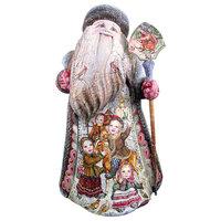 Playtime Pony Santa , Woodcarved Figurine