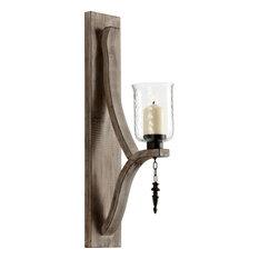 Cyan Design Giorno Wall Candleholder, Washed Oak