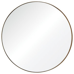 "Oryx 29.5"" Round Large Mirror Champagne"