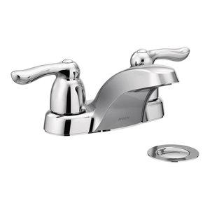 Chrome Moen 74998 Chateau Two-Handle Low-Arc Laundry Sink Faucet