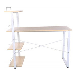 Modern Stylish Desk, MDF and Chipboard With 4-Tier Open Shelves for Storage