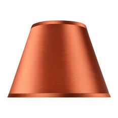 "32184, Hardback Empire Shaped Spider Lamp Shade, Burnt Orange, 7""x13""x9 1/2"""