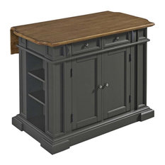 Home Styles Americana Drop Leaf Kitchen Island In Gray