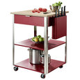 Culinary Prep Kitchen Cart, Red