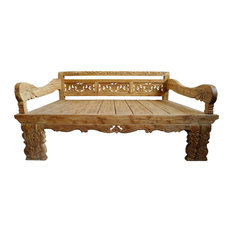 Carved Back Balinese Daybed Full Size
