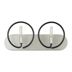 Circulo 2-Light Bath, Silverado/Black