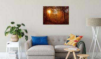 Autumn Sunset Displayed Landscape Photography on Canvas Wrap