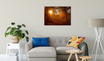 Autumn Sunset Landscape Photography Canvas Fine Art Print