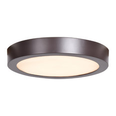 Ulko LED Outdoor Flush Mount Ceiling Light, Bronze, 9""