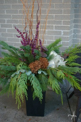 Seasonal Urns Fall/Winter - Outdoor Pots And Planters