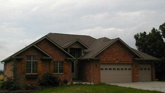 Custom Home Built by Amos Building Company - McCracken, Missouri