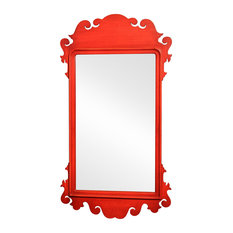 Jung Wall Mirror, Red, 65x115 cm