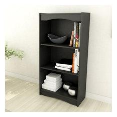 """Sonax Hawthorn 48"""" Tall Bookcase in Midnight Black"""