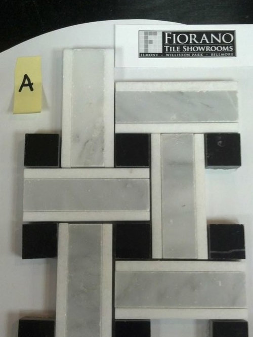 Basket Weave Marble and Black Onyx Mosaic - Mosaic Tile