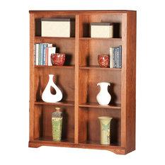 "Oak Ridge 60"" Tall, Double Wide Bookcase, Soft White Oak"