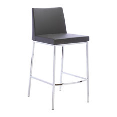 Polished Steel Counter Stool