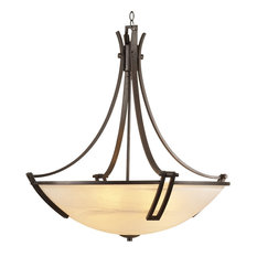 PLC 5-Light Chandelier Highland Collection, Oil Rubbed Bronze