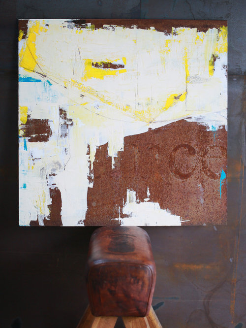 Berenice - Arcyl on partial rusted metal - Mixed Media - Kunst