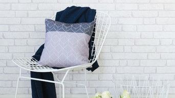 Dark Geometric Cushion Styled