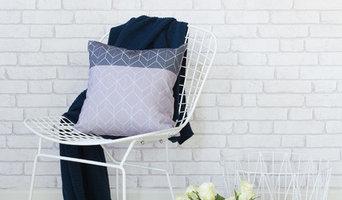 Dark Geometric Cushion Styled