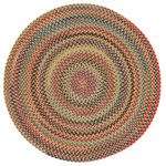 """Capel Rugs - High Rock Braided Round Rug, Gold, 7'6"""" - Reversible and durable, Capel braids are a hallmark of American tradition. Features: Construction: Braided Country of Origin: USASpecifications: Pile Height: 3/8"""" - 1/2"""""""