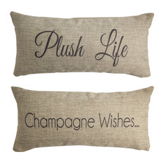 Champagne Wishes Celebration Party Reversible Pillow