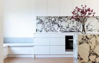 Room of the Week: Magic With Marble for a Teen-Friendly Kitchen