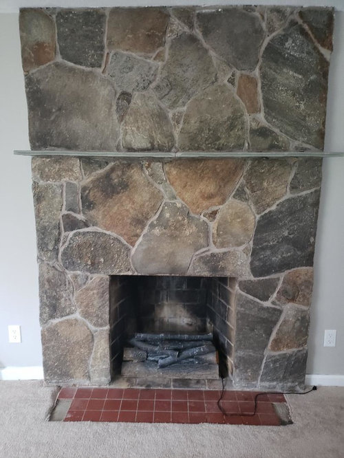 Refacing Stone Fireplace Is Ledger, How To Reface A Fireplace With Stone