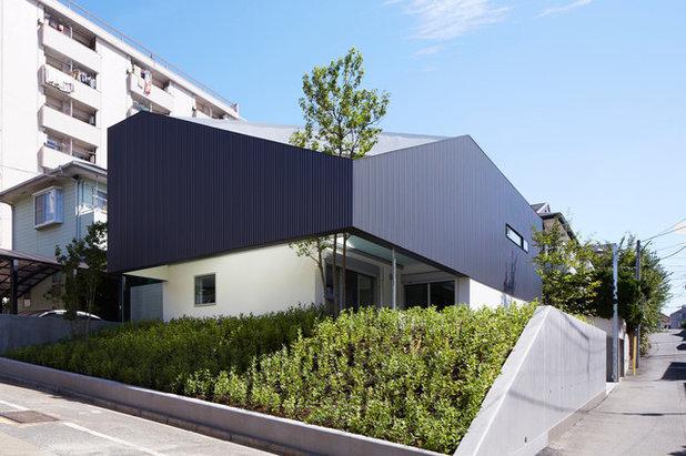 Architektur: Ein japanisches Haus mit blickgeschützter Dachterrasse