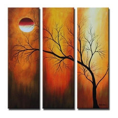 "Eclipse Canvas Wall Art, 40""x36"", 3 Piece Set"
