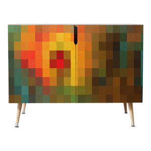 Deny Designs Madart Inc Glorious Colors Credenza, Multi, 38