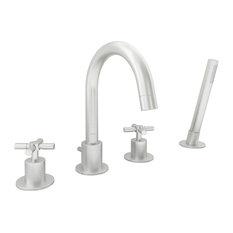 Prima 4 Widespread Bathtub Faucet, Brushed Nickel
