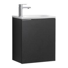 Valencia Wall Hung Bathroom Vanity Black 20-inch